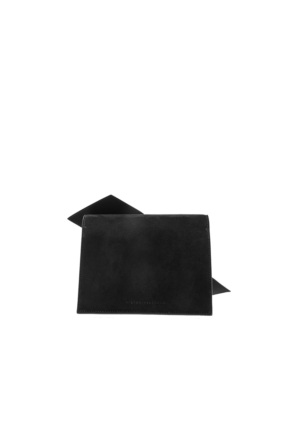 Image 3 of Victoria Beckham Mini Bow Clutch in Black