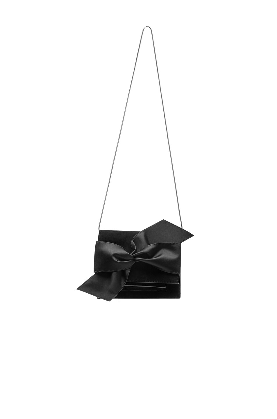 Image 6 of Victoria Beckham Mini Bow Clutch in Black