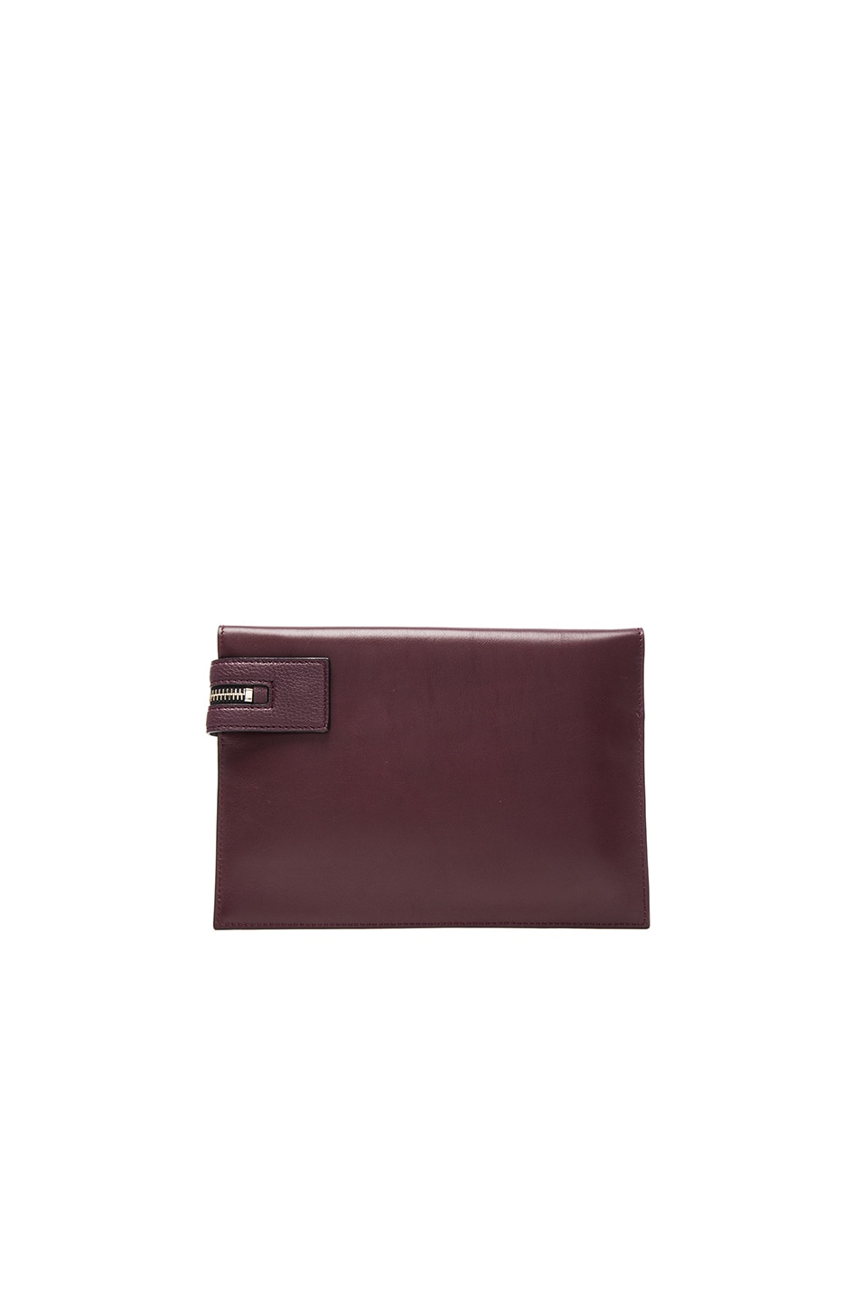 Victoria Beckham Grained Leather Small Zip Pouch in Purple 5DsqFlZWv