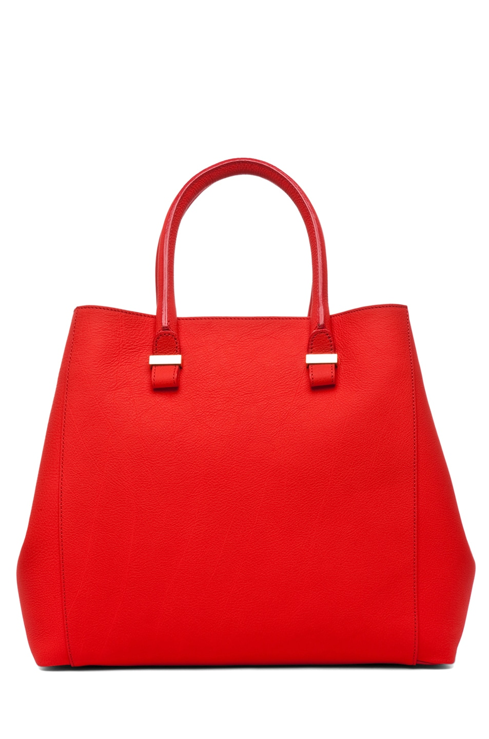 Image 1 of Victoria Beckham Georgia Tote in Sunset & Powder