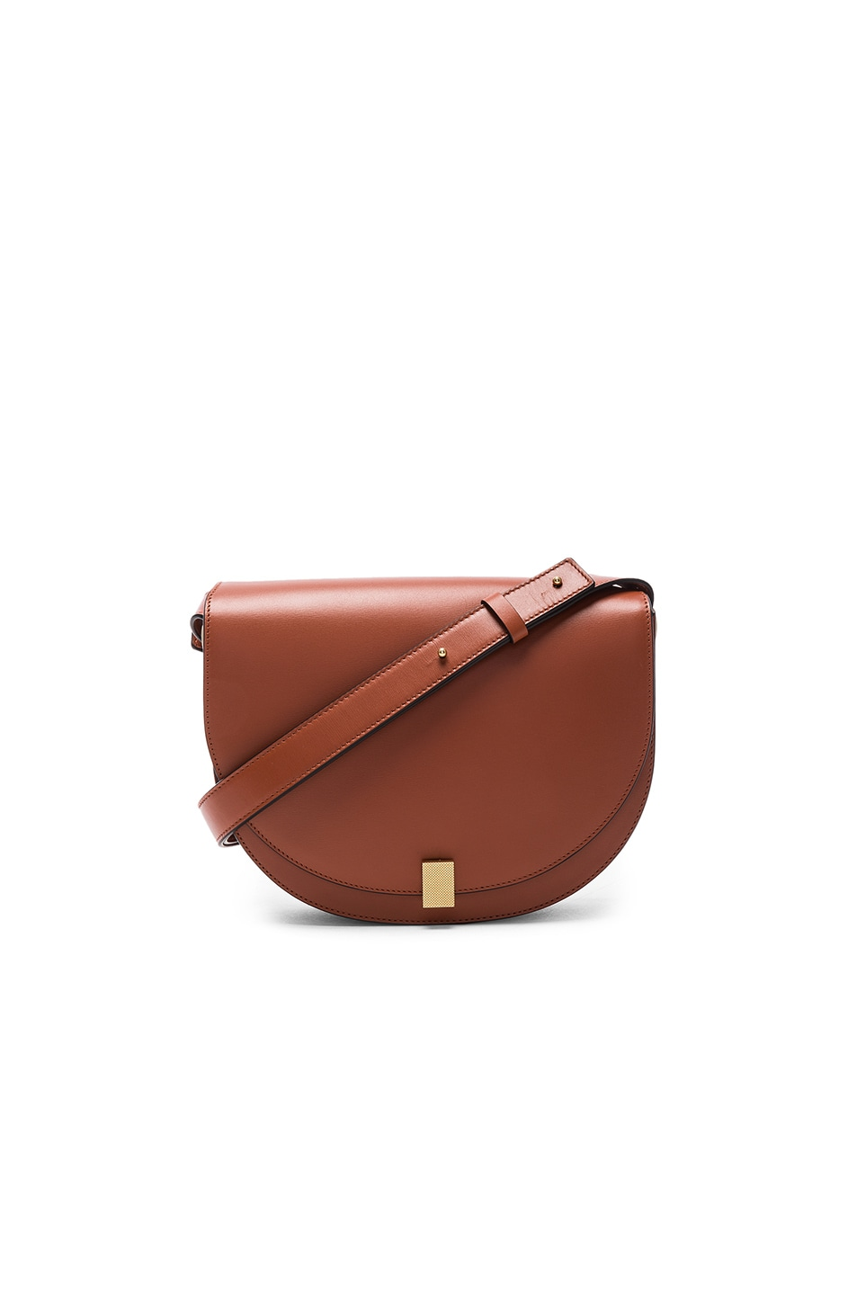 Image 1 of Victoria Beckham Half Moon Box Bag in Cognac