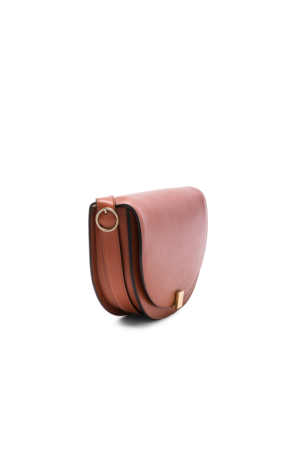 Image 3 of Victoria Beckham Half Moon Box Bag in Cognac