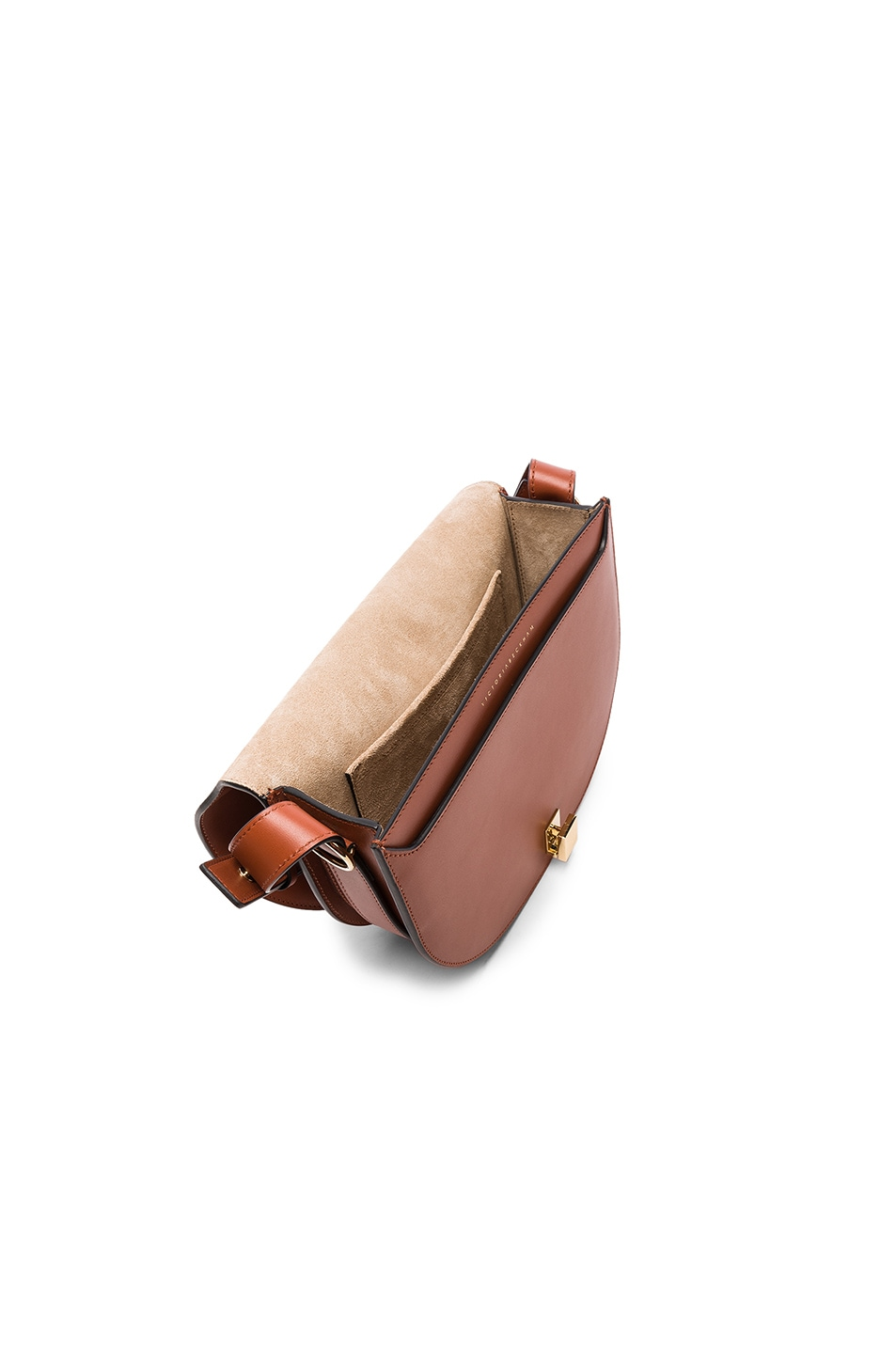Image 4 of Victoria Beckham Half Moon Box Bag in Cognac