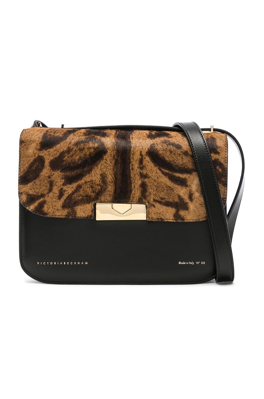003952dfead1 Image 1 of Victoria Beckham Leather & Calf Hair Eva Bag in Leopard Print
