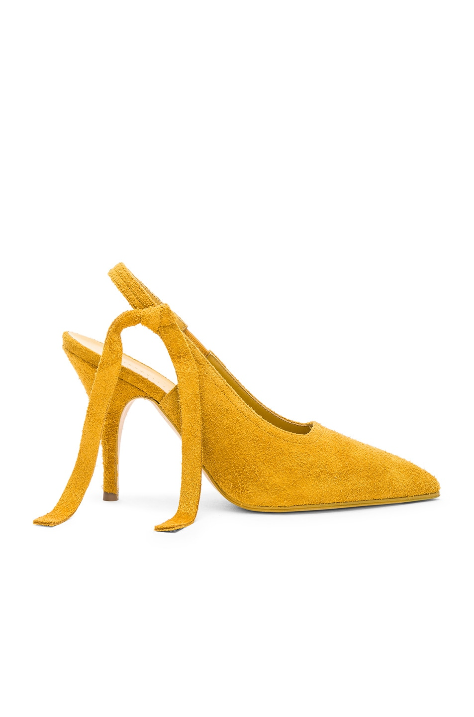 Image 1 of Victoria Beckham Suede Dorothy Sling Back Pumps in Yellow