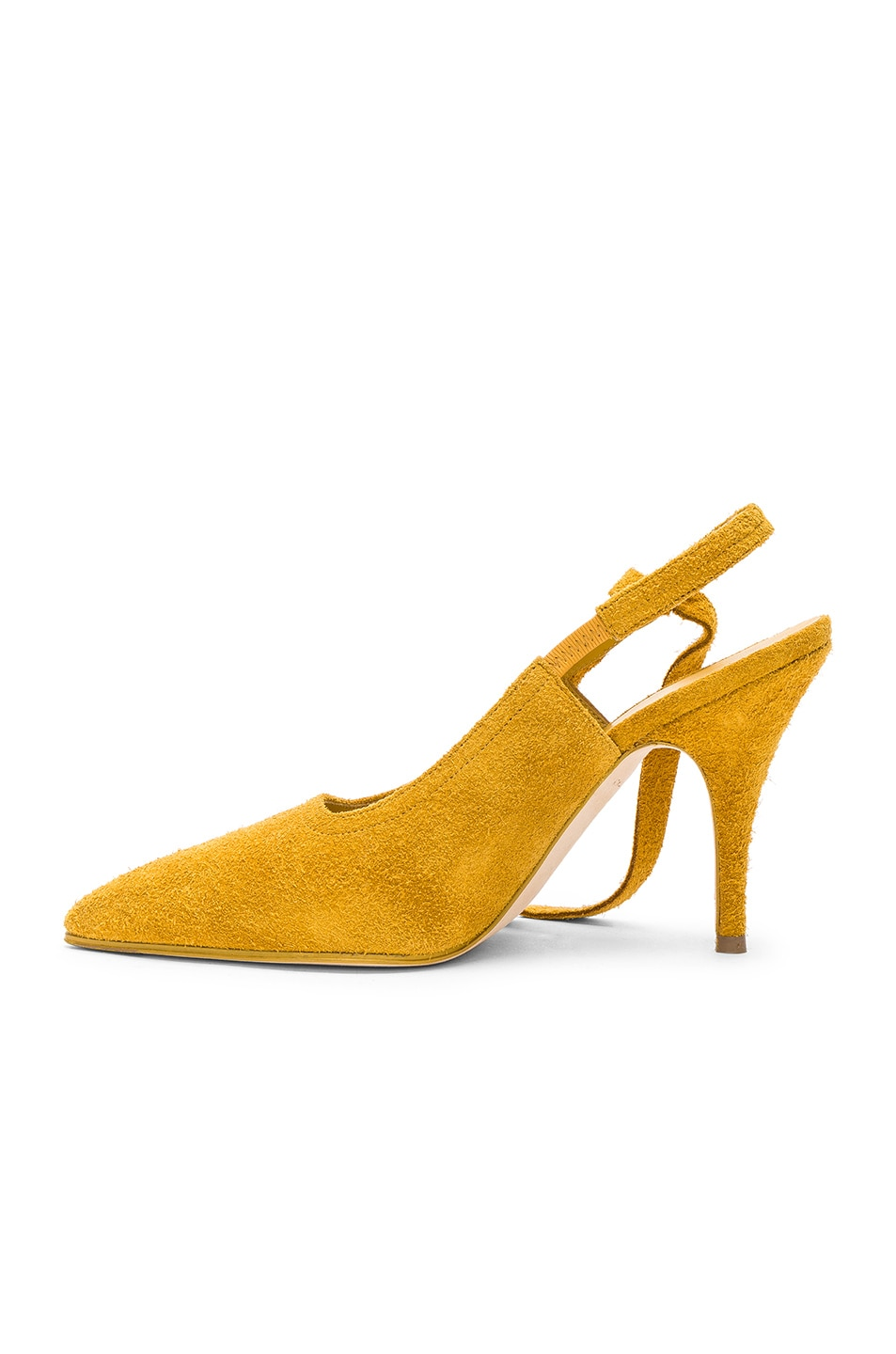Image 5 of Victoria Beckham Suede Dorothy Sling Back Pumps in Yellow
