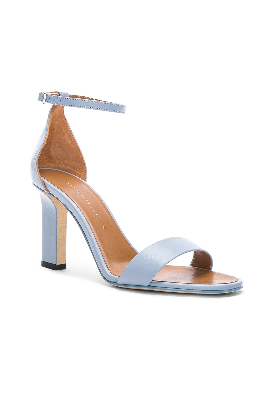 Image 2 of Victoria Beckham Anna Sandal in Baby Blue