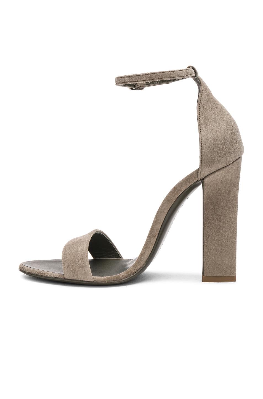 Victoria Beckham Suede Anna Ankle Strap Sandals in , .