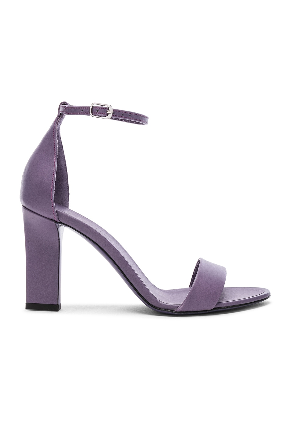 Image 1 of Victoria Beckham Leather Anna Ankle Strap Sandals in Lilac
