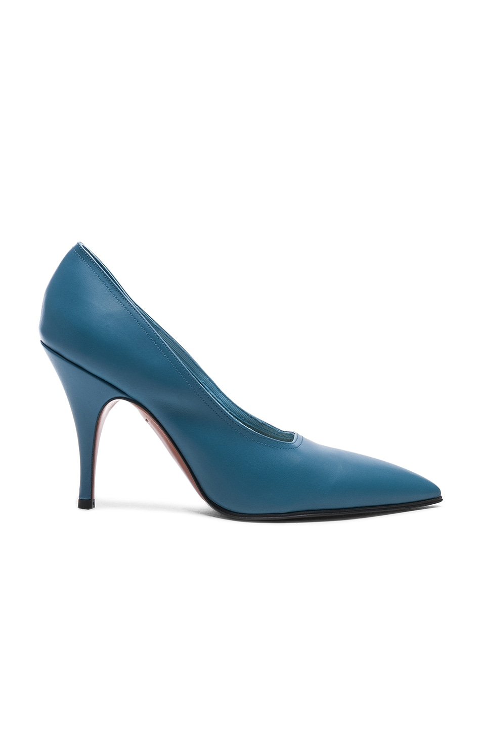 Image 1 of Victoria Beckham Leather Dorothy Stiletto Pumps in Sky