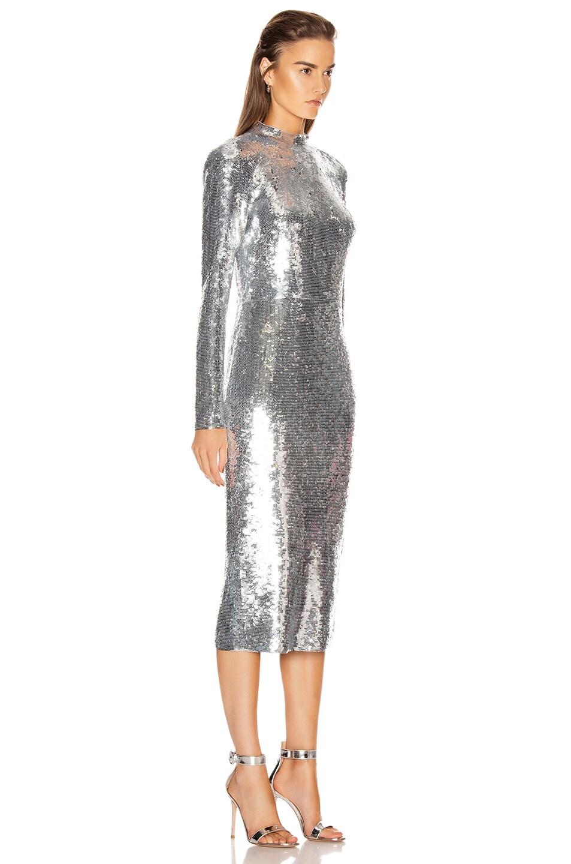 Image 2 of Veronica Beard Nila Dress in Silver
