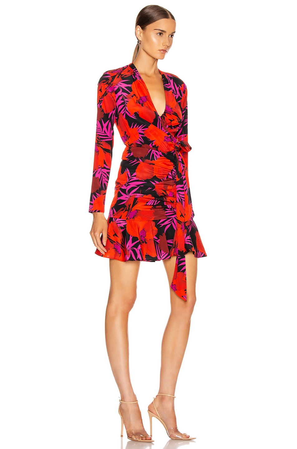 Image 2 of Veronica Beard Lorina Dress in Poppy Multi