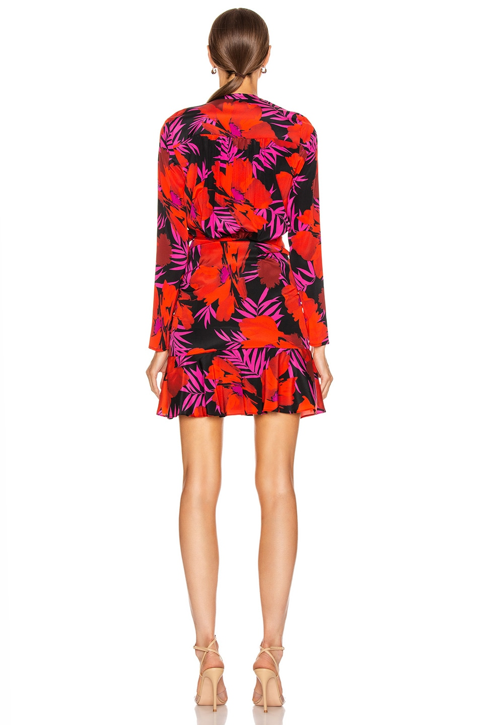 Image 4 of Veronica Beard Lorina Dress in Poppy Multi