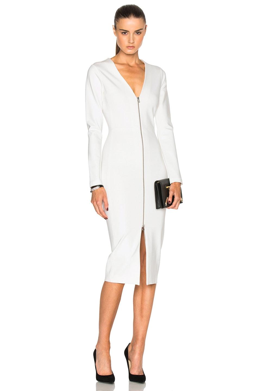 Image 1 of Veronica Beard Firefly Slit Dress in Ivory