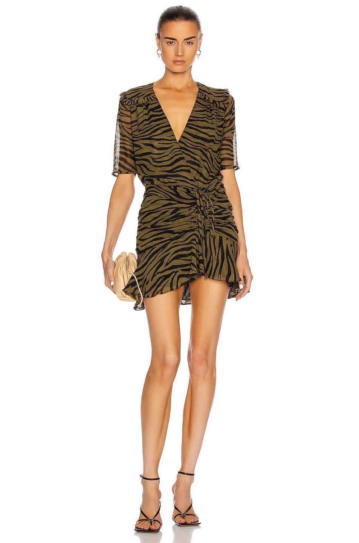 Image 1 of Veronica Beard Dakota Dress in Olive