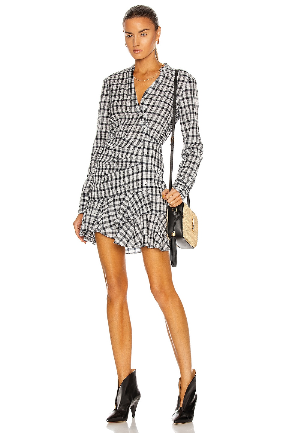 Image 1 of Veronica Beard Sherry Dress in Off White & Navy