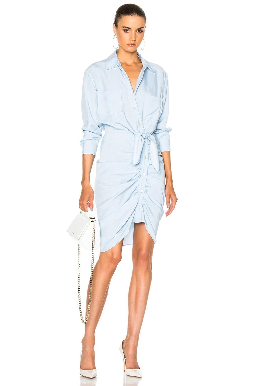 1a33ec759e3 Image 1 of Veronica Beard Sierra Ruched Dress in Light Blue