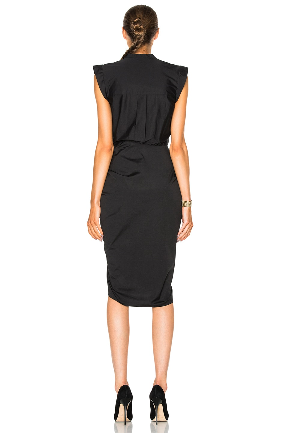 Image 4 of Veronica Beard Ruched Shirt Dress in Black