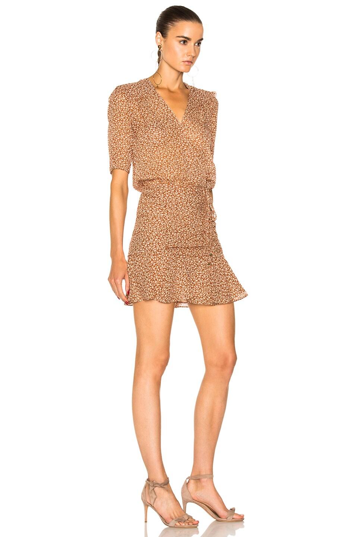 04afc325259 Image 2 of Veronica Beard Dakota Flounce Dress in Rust   Cream