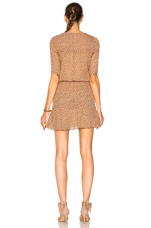 85a6010958e Image 3 of Veronica Beard Dakota Flounce Dress in Rust   Cream