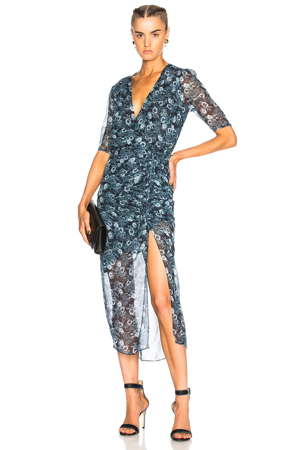 VERONICA BEARD MARIPOSA DRESS IN ABSTRACT,BLUE