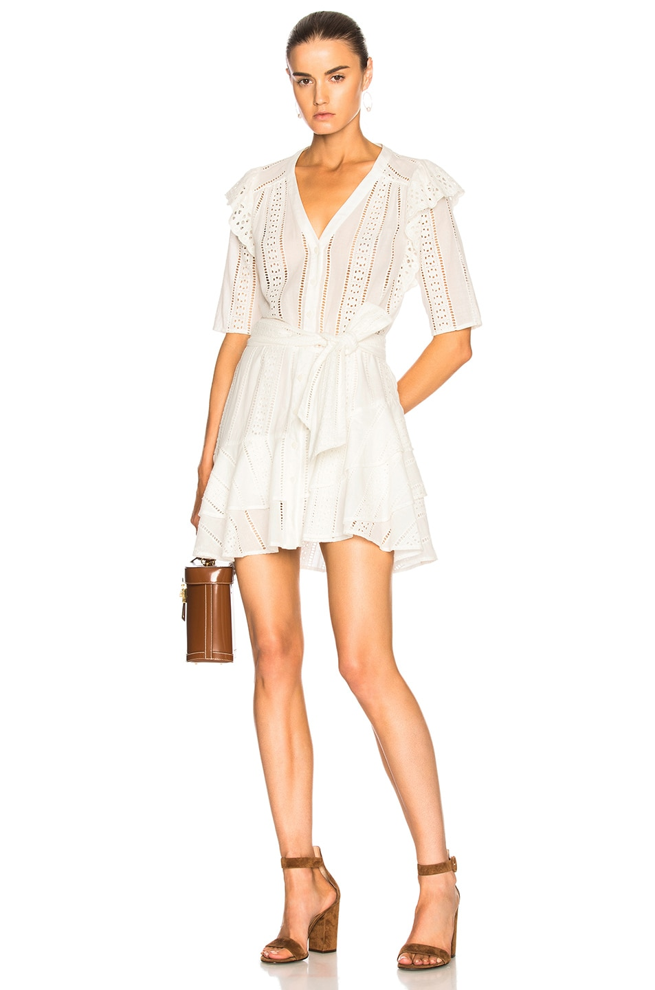 VERONICA BEARD SIMA DRESS IN WHITE