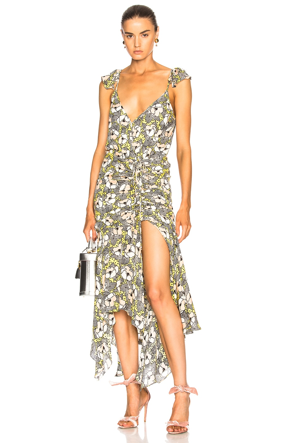 VERONICA BEARD MARTINE DRESS IN GREEN,FORAL
