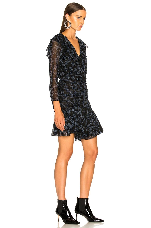 Image 3 of Veronica Beard Magg Dress in Black & Blue