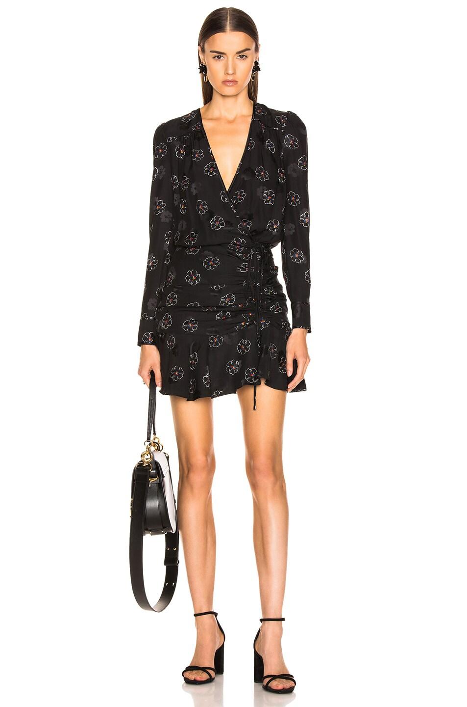 Image 1 of Veronica Beard Anders Dress in Black Multi