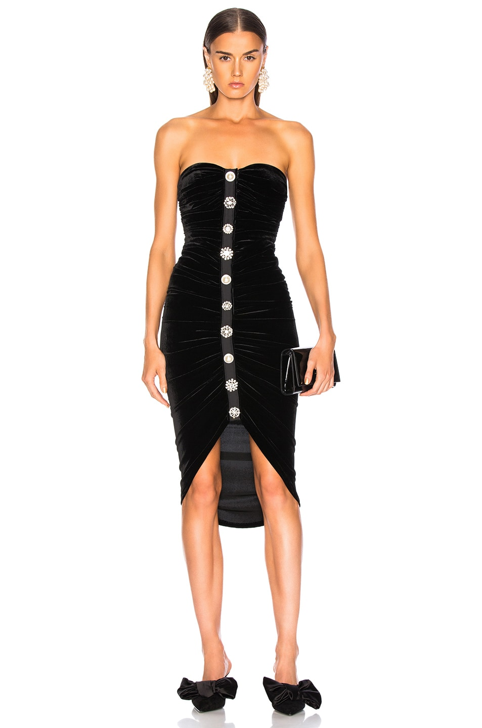 Image 1 of Veronica Beard Velvet Palo Dress in Black