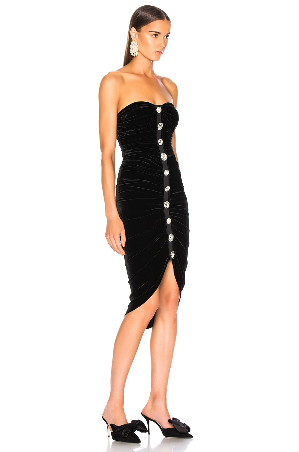 Image 2 of Veronica Beard Velvet Palo Dress in Black