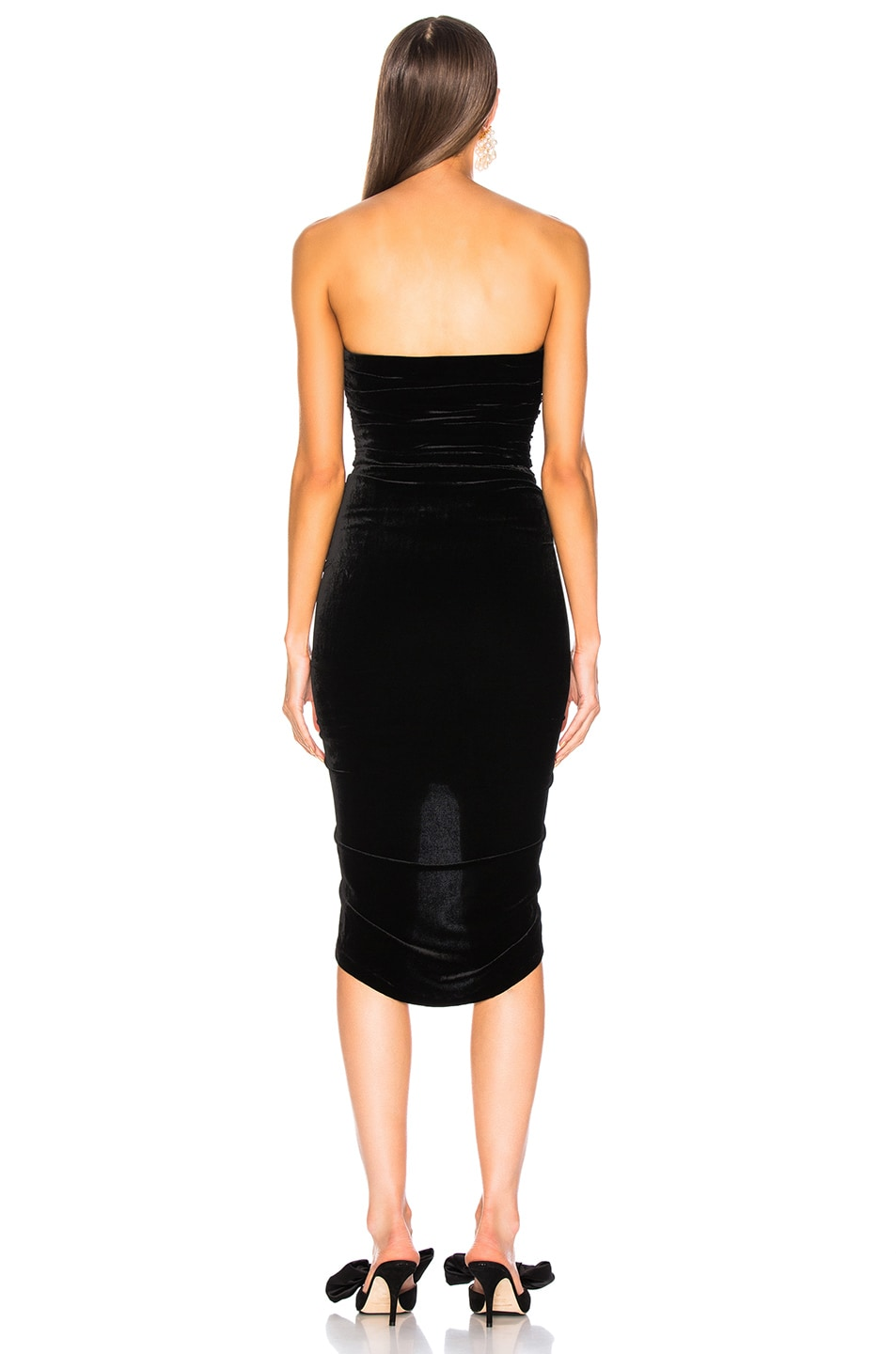 Image 3 of Veronica Beard Velvet Palo Dress in Black
