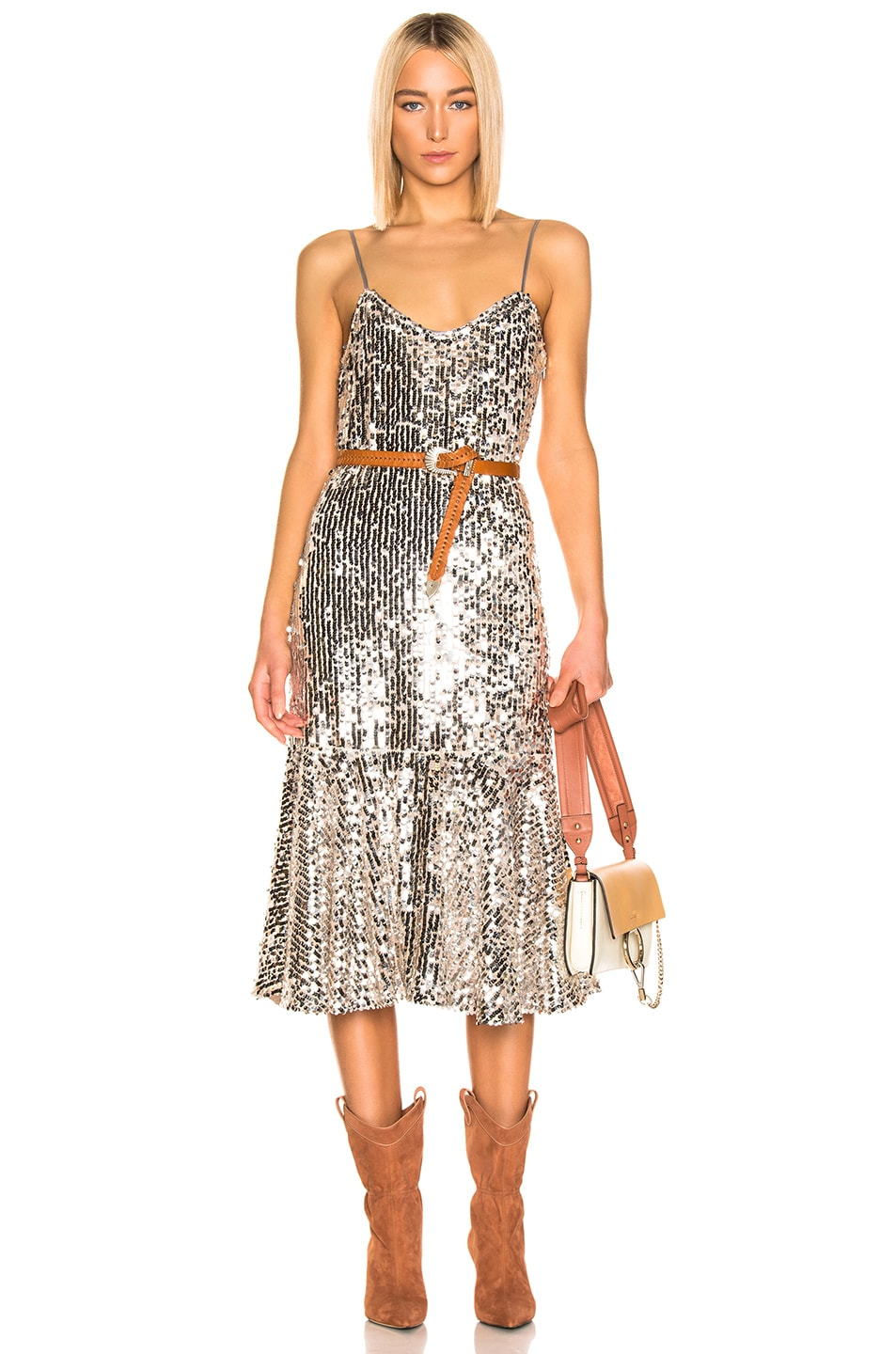 Image 1 of Veronica Beard Mykola Dress in Silver