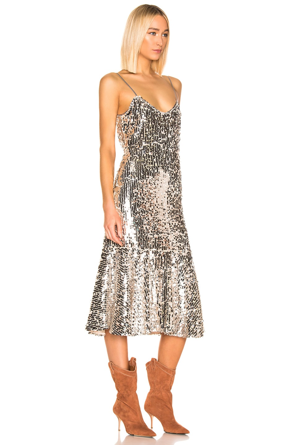 Image 2 of Veronica Beard Mykola Dress in Silver