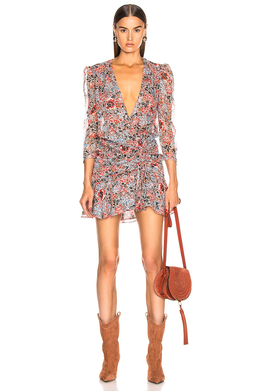 Image 1 of Veronica Beard Maggie Dress in Poppy Multi