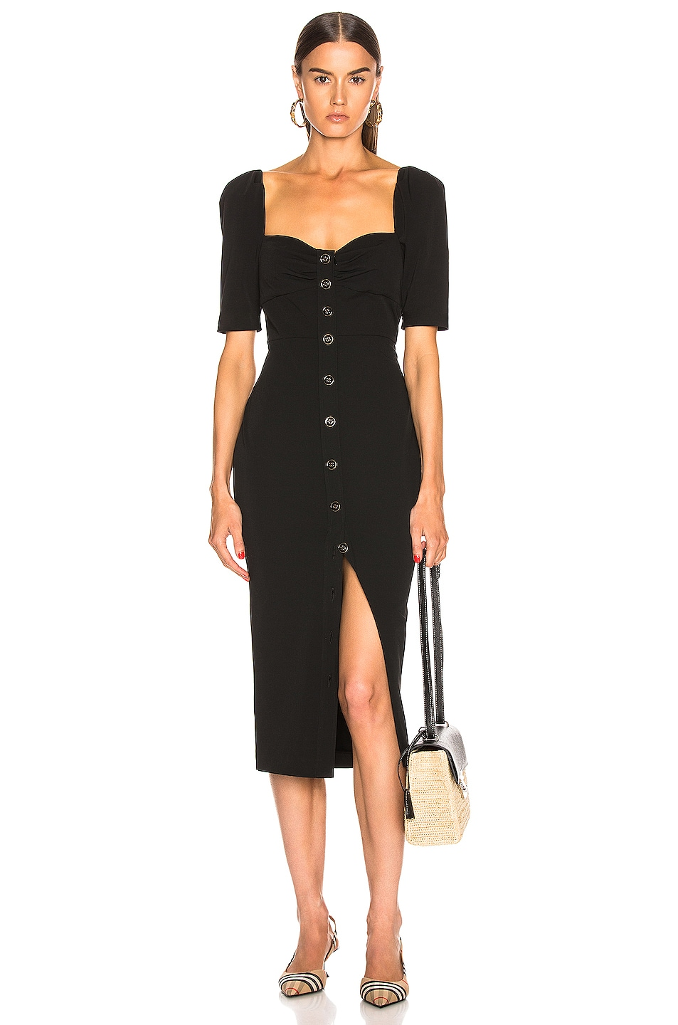 Image 1 of Veronica Beard Trace Dress in Black