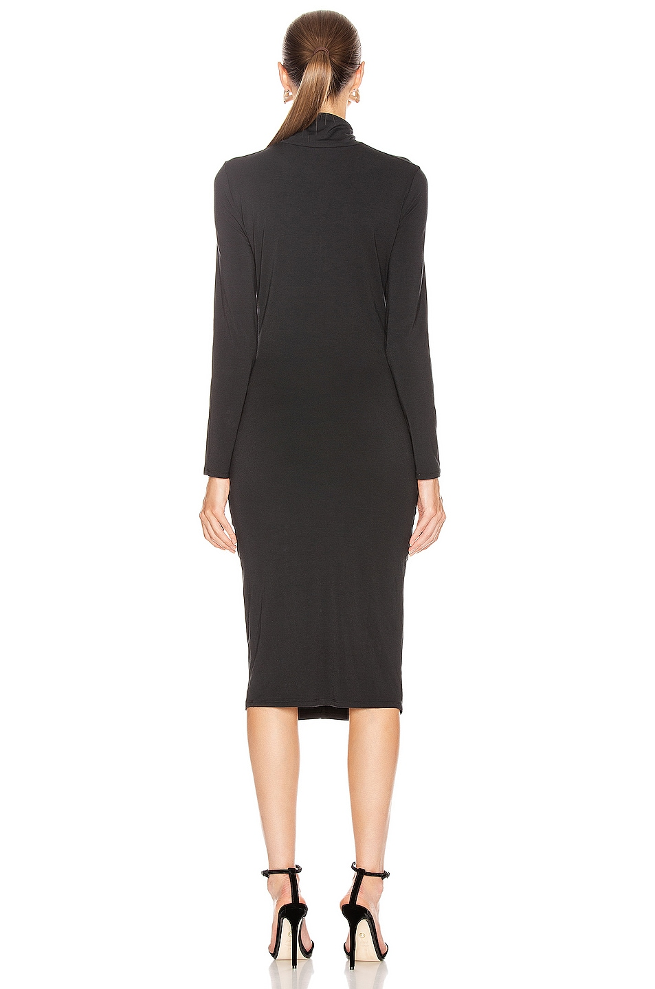 Image 3 of Veronica Beard Elm Turtleneck Midi Dress in Black