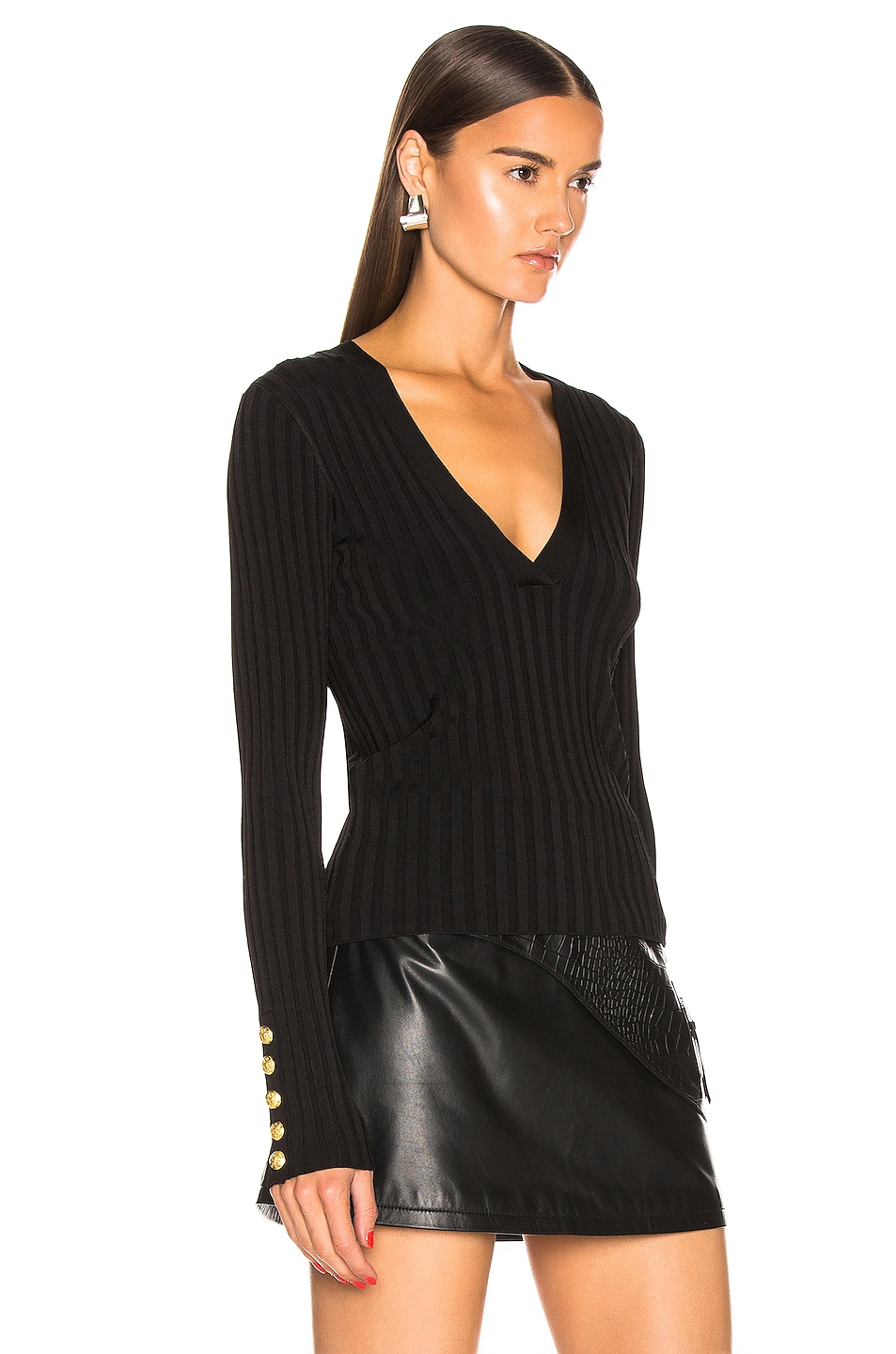 Image 2 of Veronica Beard West V Neck Sweater in Black