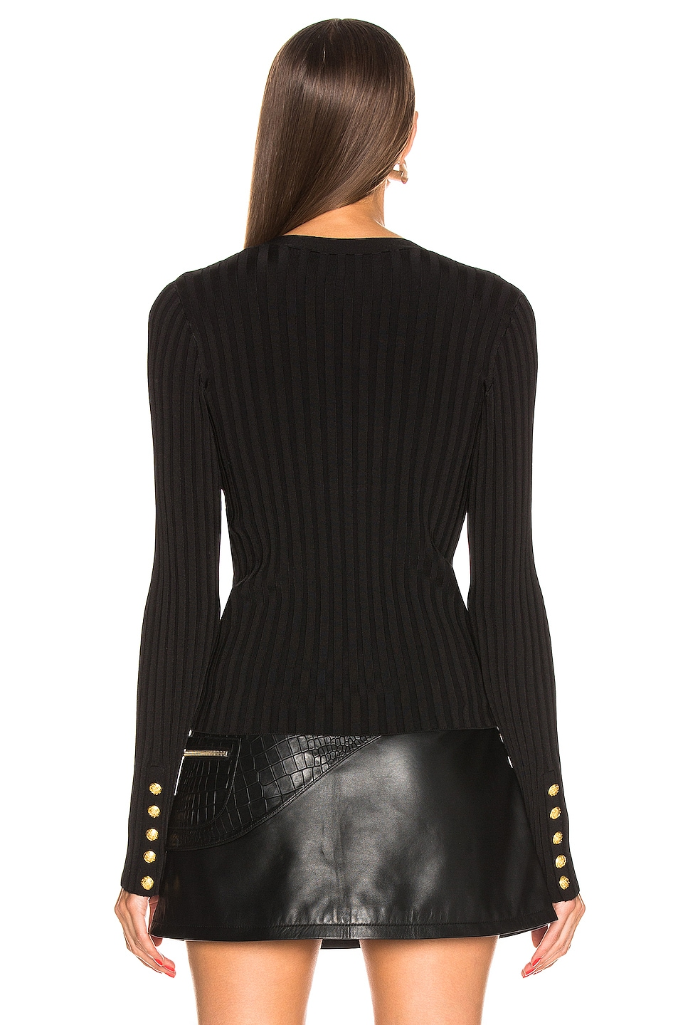 Image 3 of Veronica Beard West V Neck Sweater in Black