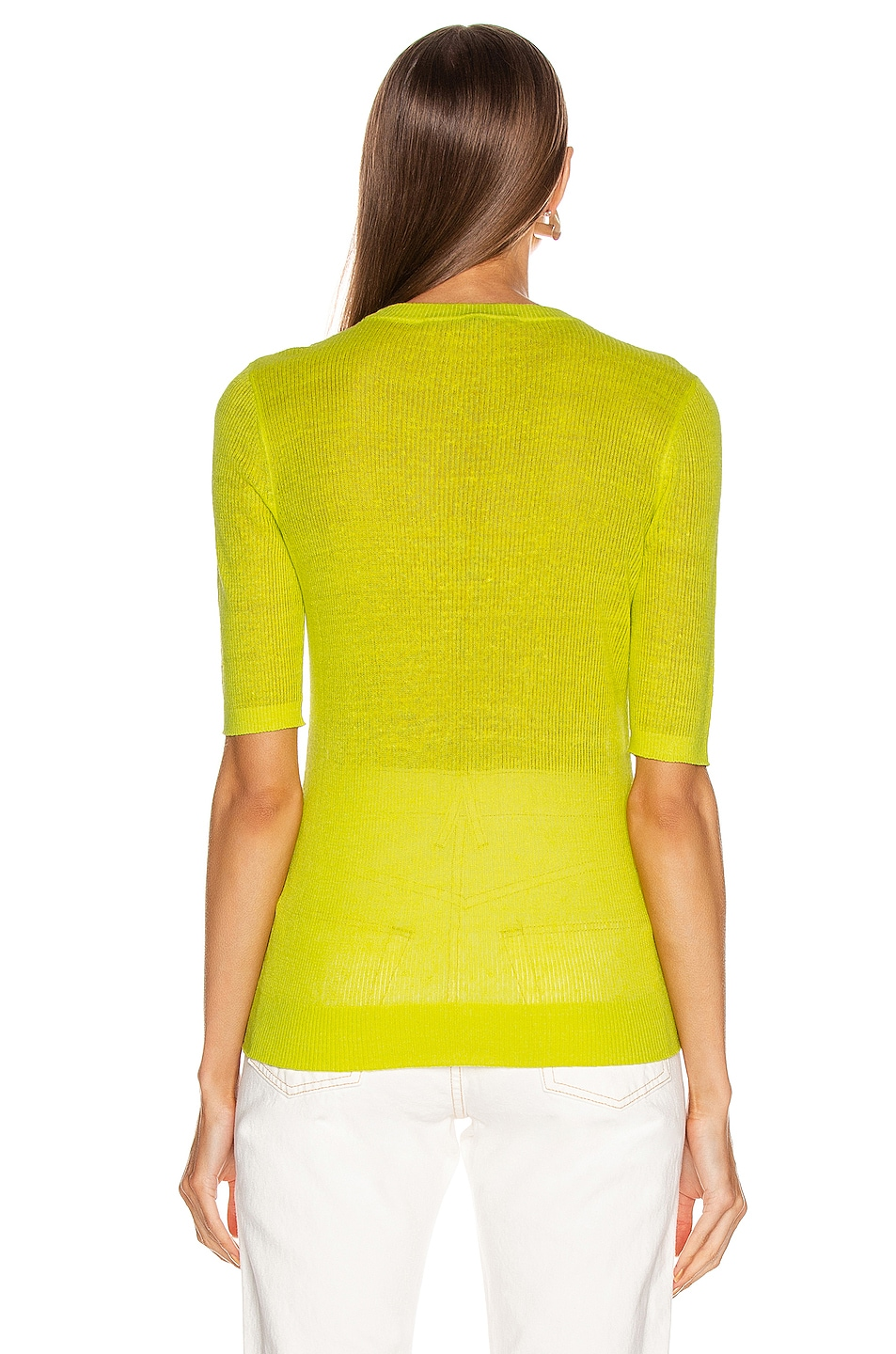 Image 3 of Veronica Beard Dean Sweater in Chartreuse