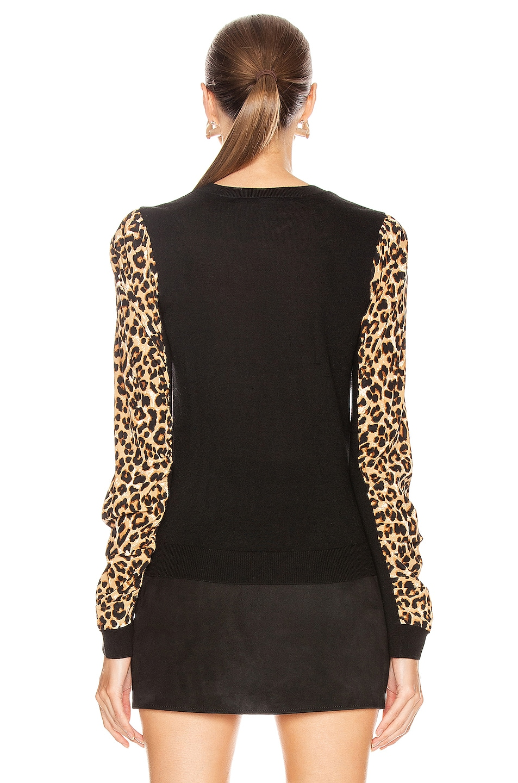 Image 3 of Veronica Beard Adler Mixed Media Sweater in Black Multi