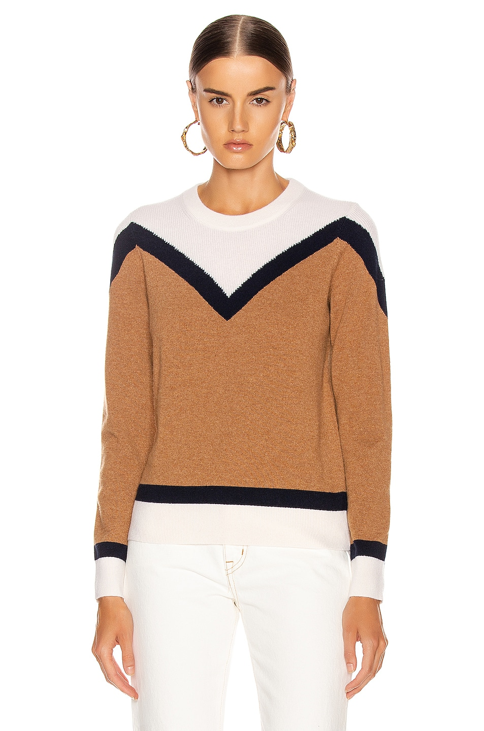 Image 2 of Veronica Beard Bradford Pullover Sweater in Navy Multi