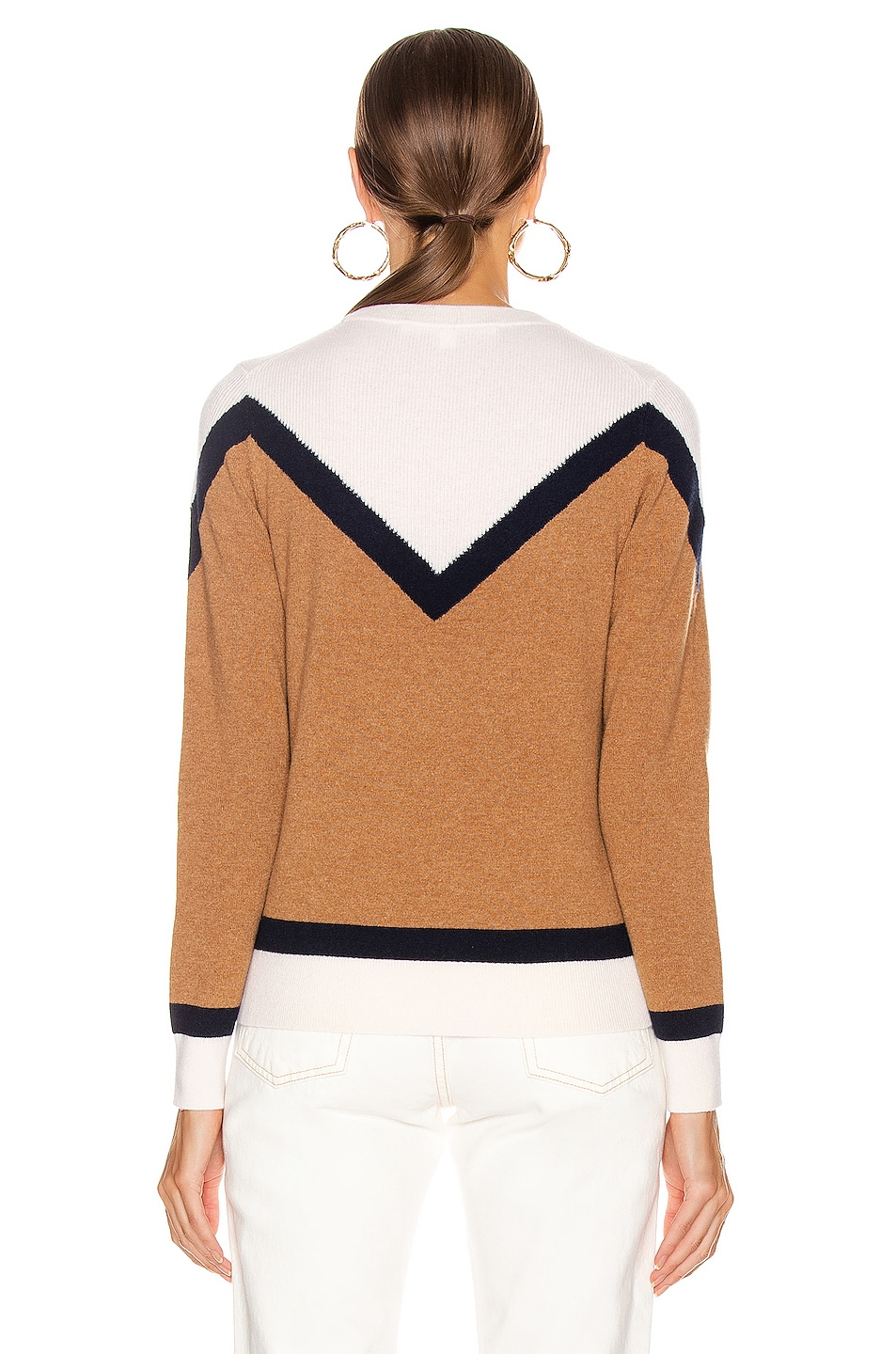 Image 4 of Veronica Beard Bradford Pullover Sweater in Navy Multi