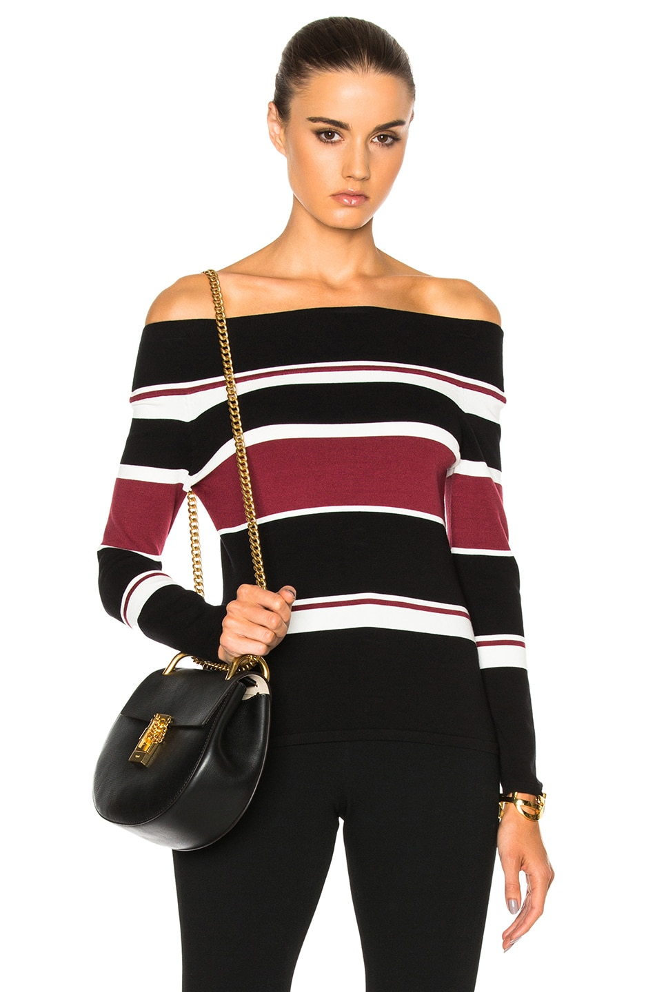 Image 1 of Veronica Beard Audrey Off the Shoulder Sweater in Multi
