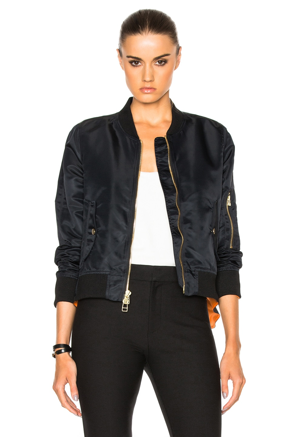 Image 1 of Veronica Beard for FWRD Flight Jacket in Black