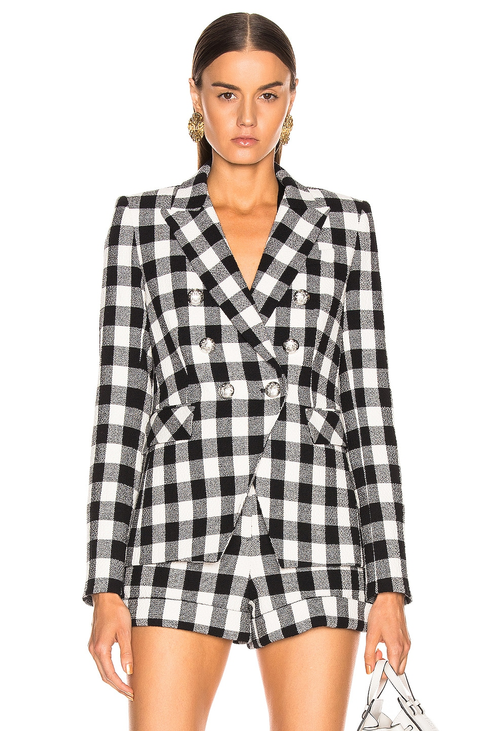 Image 1 of Veronica Beard Miller Dickey Jacket in Black & White