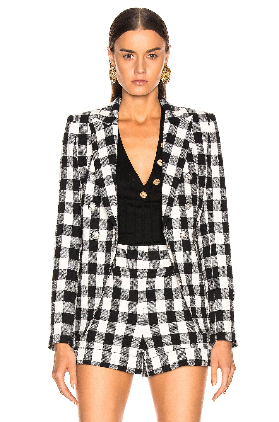 Image 2 of Veronica Beard Miller Dickey Jacket in Black & White