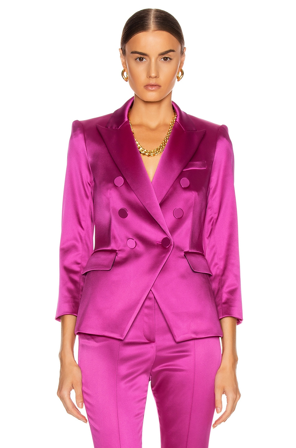Image 1 of Veronica Beard Empire Dickey Jacket in Pink