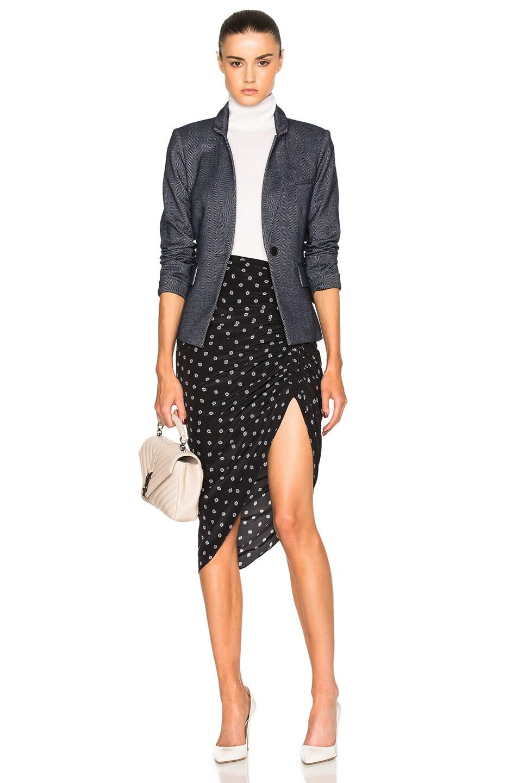 c0e0eac08575 Image 5 of Veronica Beard Ari Ruched Skirt in Black