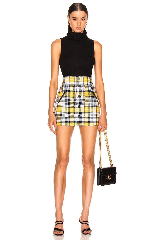 Image 4 of Veronica Beard Monroe Skirt in Yellow